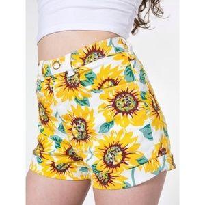American Apparel Sunflower Jean Shorts 24/25